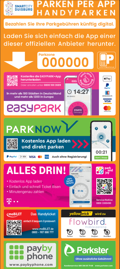 Aufkleber Smart Parking